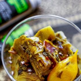 Artichauts barigoules revisités aux épices indiennes