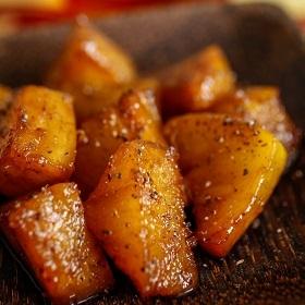Ananas poêlé au poivre long