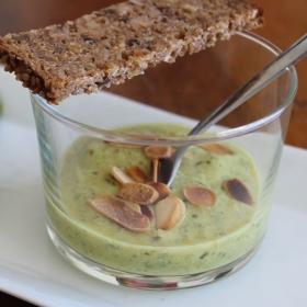 Recette Crème de courgettes et Flan d'épinard - Sarabar